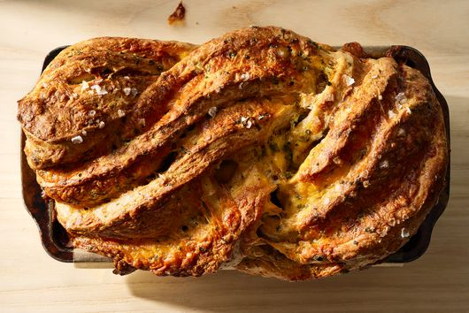 Swirly Cheese Bread With Black Pepper & Chives
