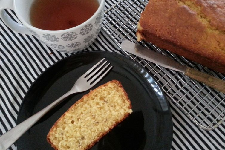 Blood Orange and Lavender Yogurt Loaf Cake