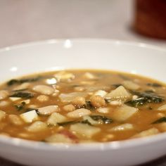Potaje de Vigilia (Spanish Fasting Soup with Beans, Thickened with Bread)