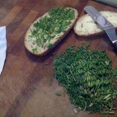 Schnittlauch Butter Brot