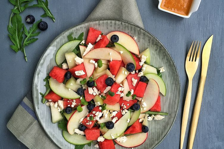 Melon Salad with Roasted Shallot & Chili Vinaigrette