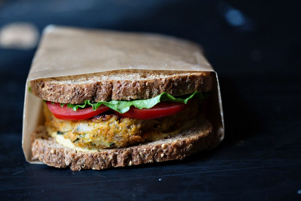 Zucchini Quinoa Burgers from Food52