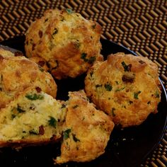 3-Cheese, Chinese Sausage and Cilantro Scones