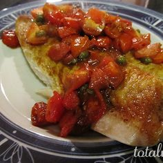 Pan-Seared Tilapia with Balsamic-Cherry Tomato Quick Sauce