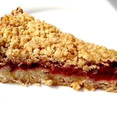 Roasted Strawberry Oat Bars