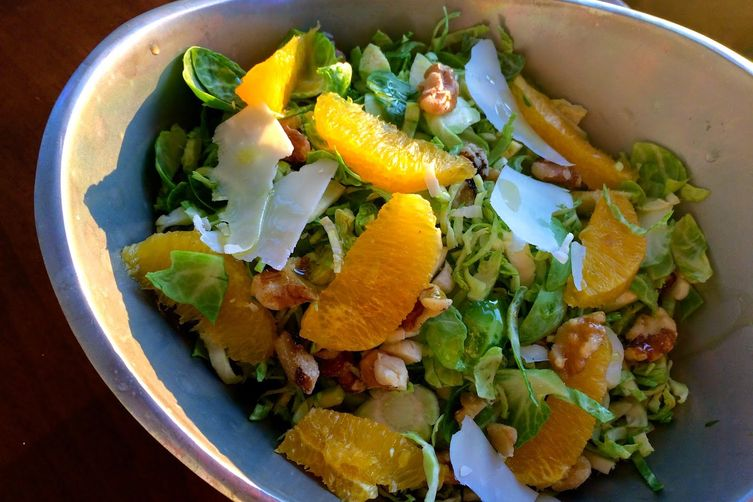 Citrusy Brussels Sprout Salad