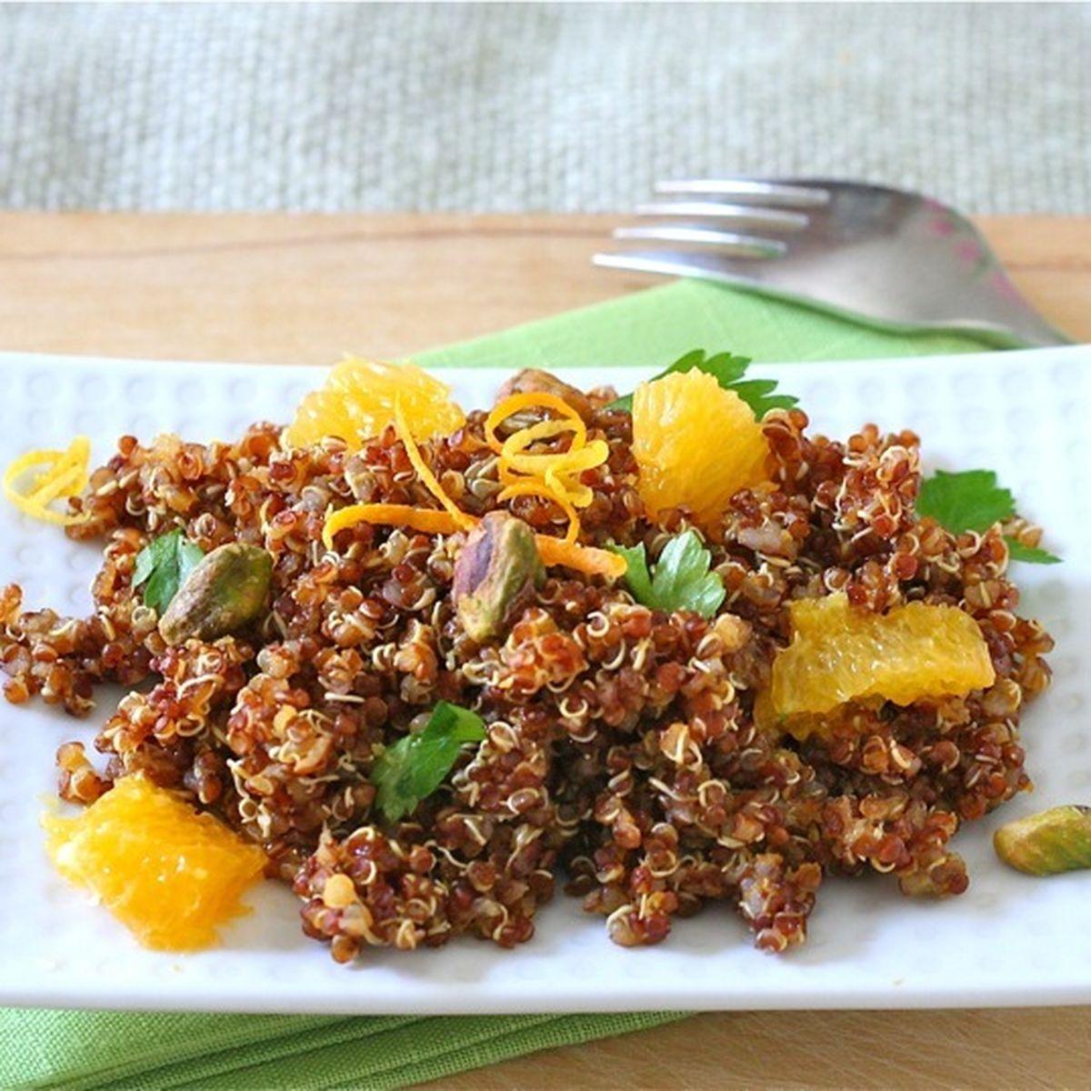 Red Quinoa Salad with Citrus and Pistachios
