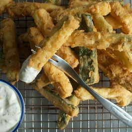 Zucchini Frites with Lemon Basil Mayonnaise