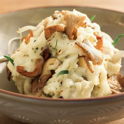 Wine Country Mashed Potatoes with Mushrooms, Shallots and Herbs