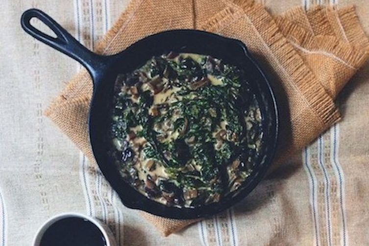 Creamed Chard & Mushrooms