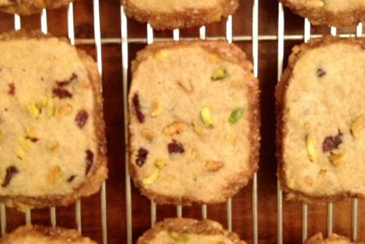 Cherry, Cardamom & Pistachio Icebox Cookies