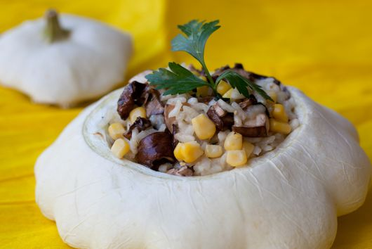 Risotto With Patty Pan Squash