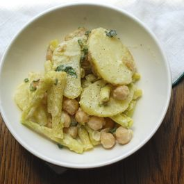 Minty Potato, Bean, and Chickpea Salad
