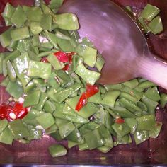 Who knew they are called Romano? Quick green bean salad