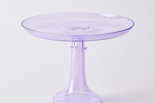 Hand-blown Color Glass Cake Stand