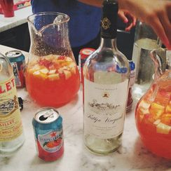 White Sangria with Lillet Blanc and Blood Orange