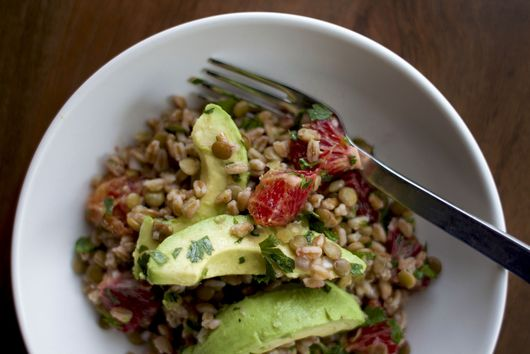 Lentil, Avocado, and Farro Salad