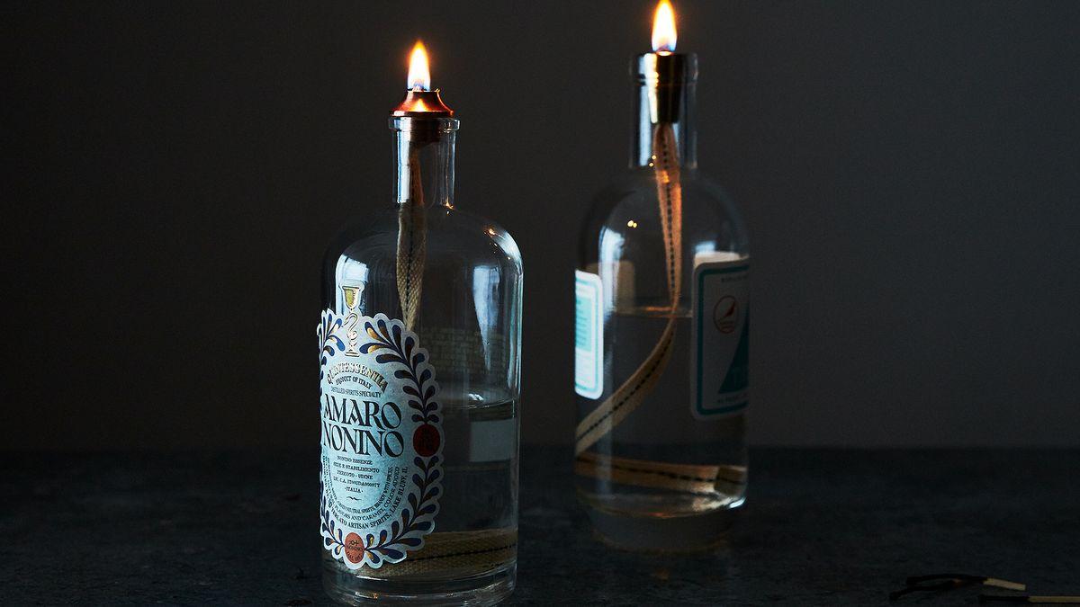 Diy Liquor Bottle Oil Lamp Tutorial Home Decor