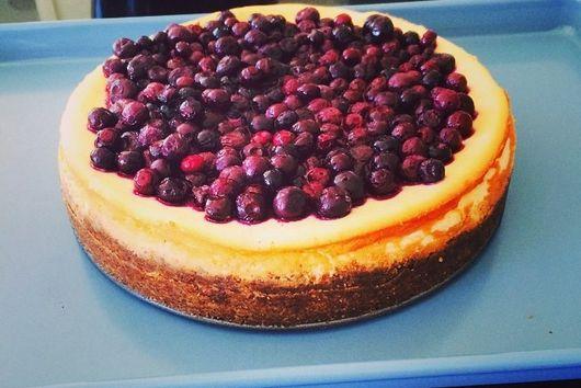 Mascarpone + Blueberry Cheesecake with Salted Ginger + Hazelnut Base (GF)