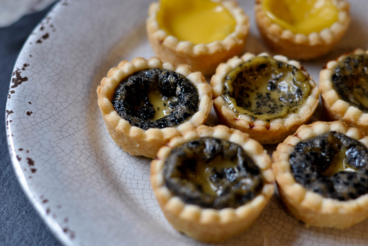 Mini Black Sesame Egg Custard tarts