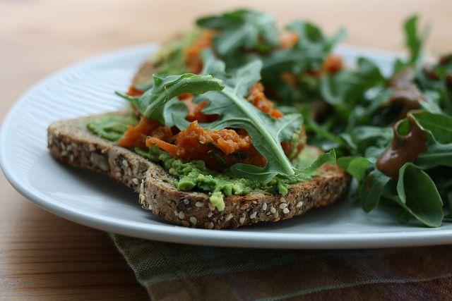 vegan lunch avocado toast