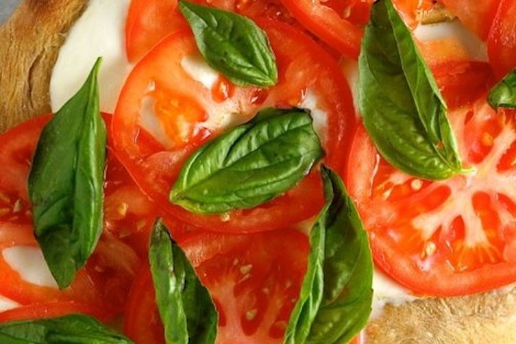 Marinated Margherita Flatbread