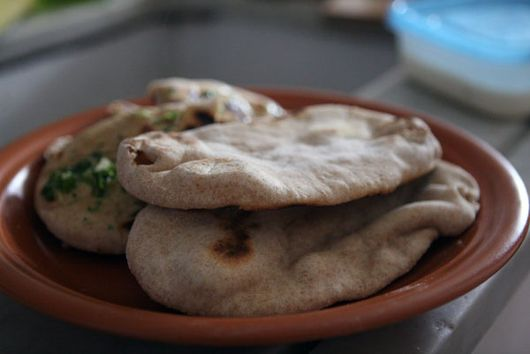Garlic Naan with Whole Wheat