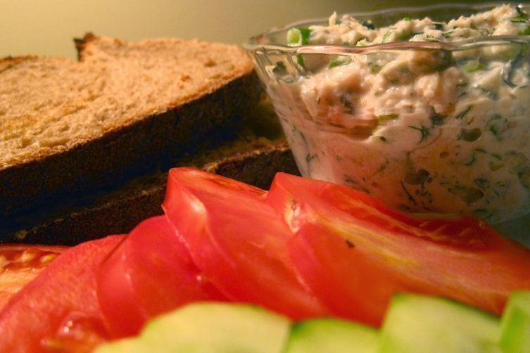 Smoked Trout Salad Sandwich