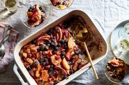 A Fruity, Festive Bread Pudding With Twist