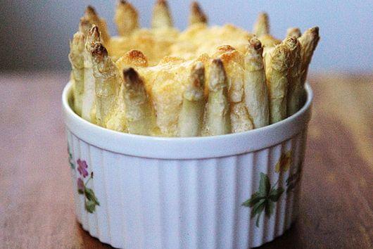 Soufflé Edged with Asparagus