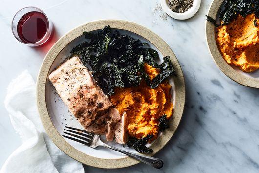 Åsa's Salmon with Kale and Sweet Potato