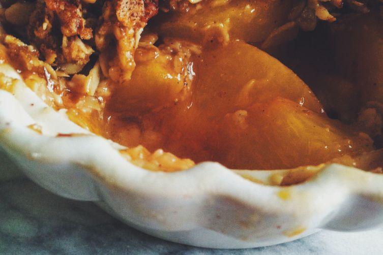 Vegan Peach Almond Crisp