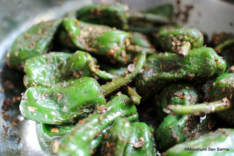 Padrón peppers with toasted cumin and coriander