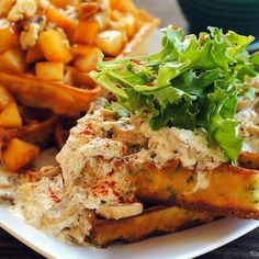 Savory Waffles with Roasted Chicken & Mustard Cream Sauce