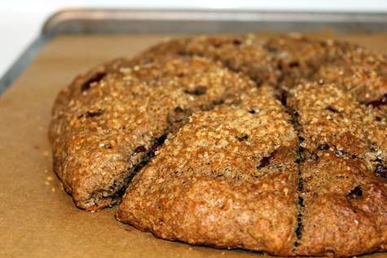 Espresso-chocolate buckwheat scones with lemon butter