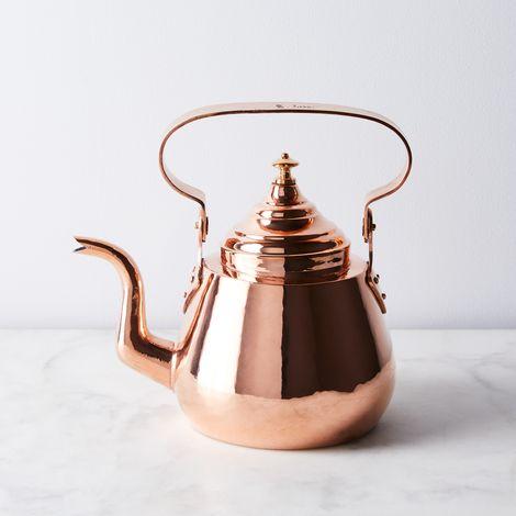 Vintage Copper French Bellied Tea Kettle, Mid 19th Century