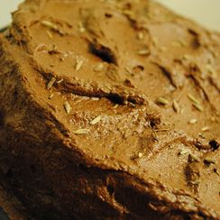 Brandied Earl Grey Chocolate Cake