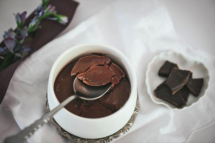 Chocolate Peanut Butter Tahini Creme Dessert