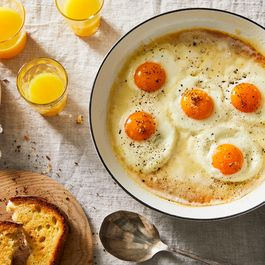 Eggs in cream by Hazel