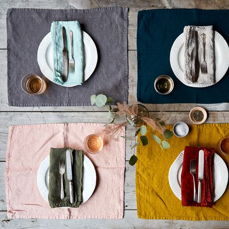Stonewashed Linen Placemats (Set of 4)
