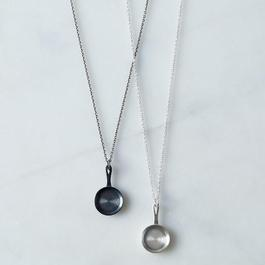 """Cast Iron"" Fry Pan Necklace"