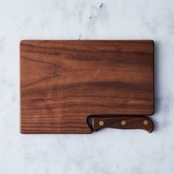 Walnut Travel Cutting Board & Knife