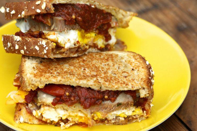 Pork and Eggs Breakfast Sandwich