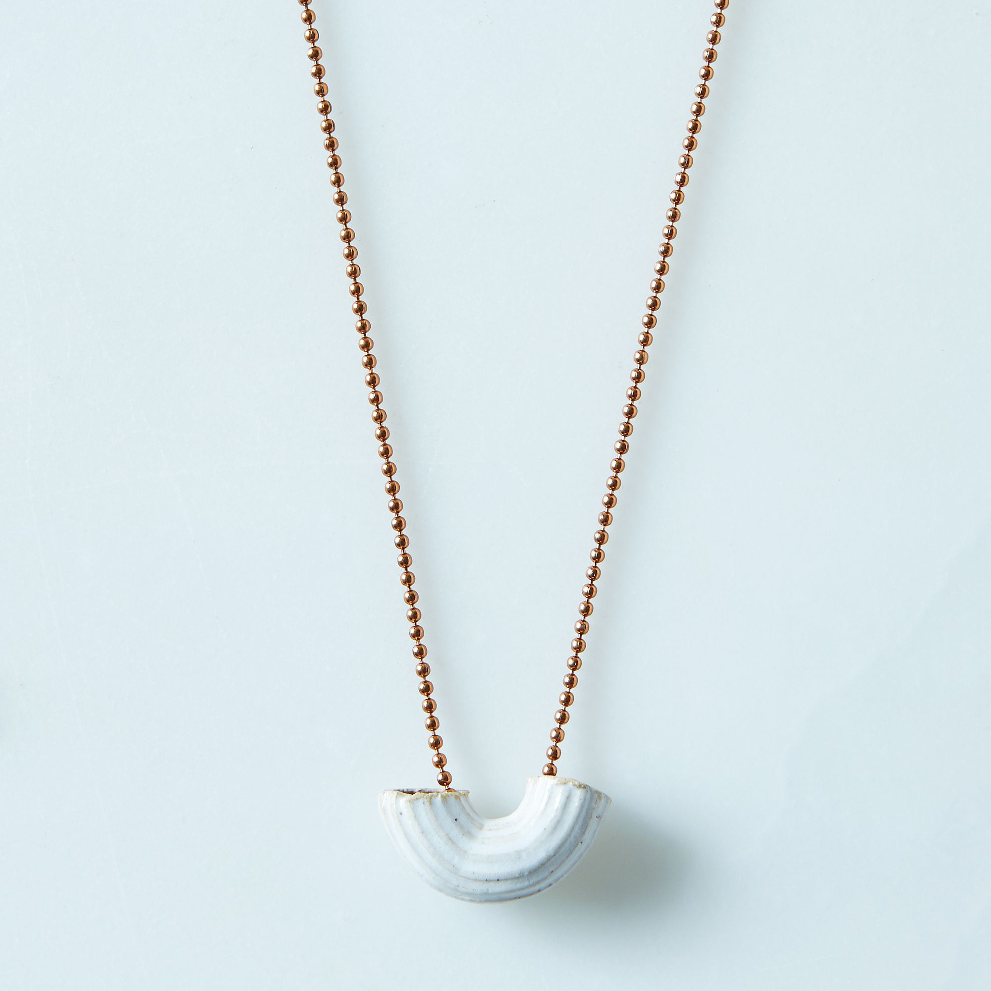 gold asp pendant porcelain p dipped necklace