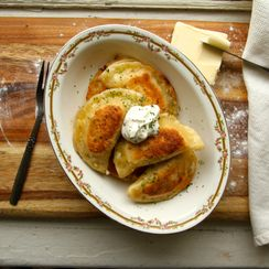 Potato and Aged Cheddar Perogies