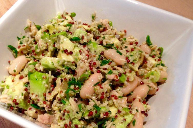 Italian Tuna, Quinoa and White Bean Salad