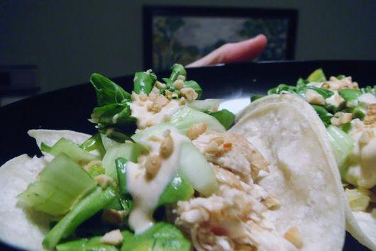 Chicken Bulgogi Tacos With Bok Choy Slaw