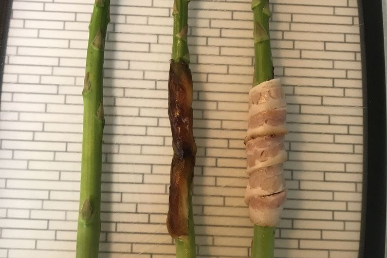 Date & bacon wrapped asparagus