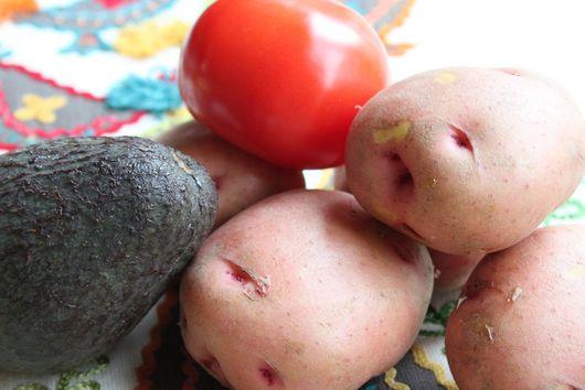 Potato salad, mostly cobbed