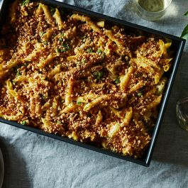 Vegan cauliflower pasta bake by Nicole S. Urdang